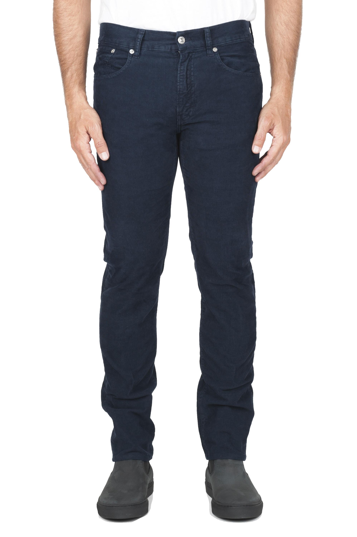 SBU 01456 Jean en velours de coton côtelé extensible bleu délavé sur lavé 01
