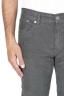 SBU 01457 Jeans elasticizzato in velluto millerighe a coste sovratinto prelavato grigio 05