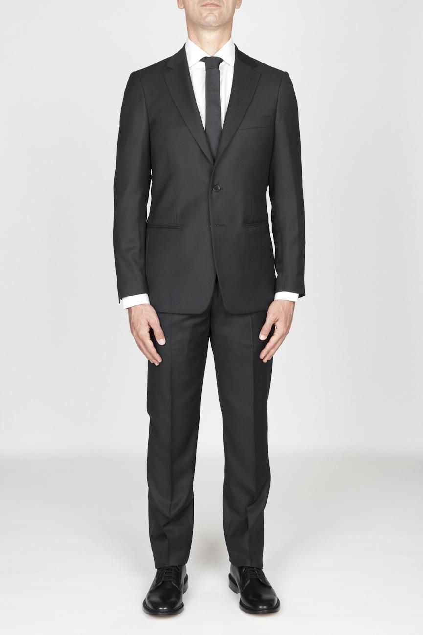 SBU - Strategic Business Unit - 男性の濃いグレー、クールウールフォーマルスーツヤマウズラの目のブレザー、ズボン