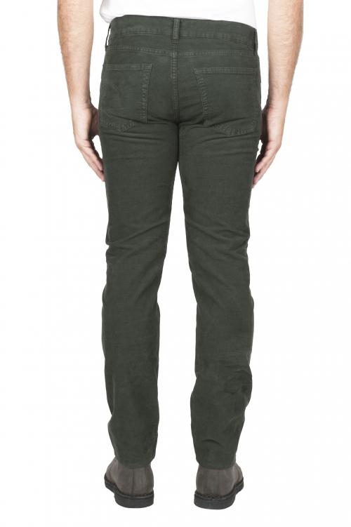 SBU 01461 Jean en velours de coton côtelé extensible vert délavé sur lavé 01