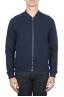 SBU 01462 Blue cotton jersey bomber sweatshirt 01