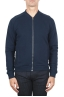 SBU 01462 Sudadera bomber jersey de algodón azul 01