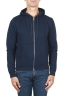 SBU 01464 Blue cotton jersey hooded sweatshirt 01