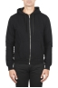 SBU 01465 Black cotton jersey hooded sweatshirt 01