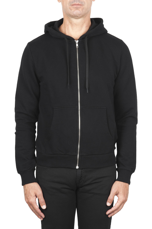 SBU 01465 Sweat à capuche en jersey de coton noir 01