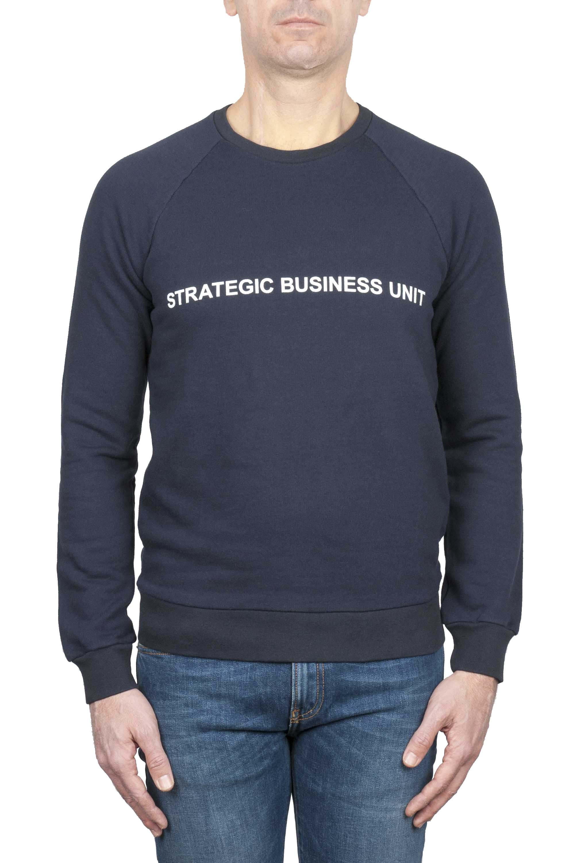 SBU 01466 Felpa girocollo Strategic Business Unit con logo stampato 01