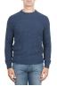SBU 01468 Maglia girocollo in lana merino bouclé extra fine blu 01