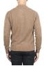 SBU 01470 Suéter beige de cuello redondo en lana boucle merino extra fina 04