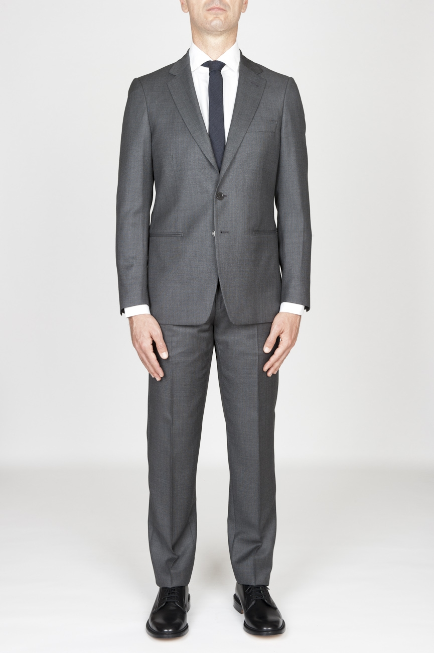 SBU - Strategic Business Unit - MenS Grey Cool Wool Formal Suit Partridge Eye Blazer And Trouser
