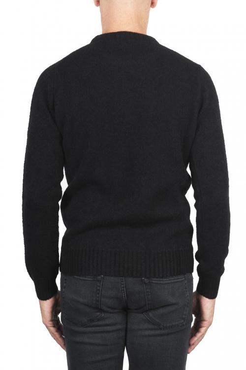 Black boucle sweater