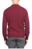 SBU 01472 Red crew neck sweater in boucle merino wool extra fine 04