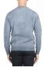 SBU 01475 青いクルーネックウールのセーターが退色効果 04