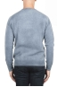 SBU 01475 Blue crew neck wool sweater faded effect 04