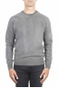 SBU 01480 Grey crew neck wool sweater faded effect 01
