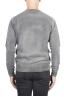 SBU 01480 グレーのクルーネックウールのセーターは退色効果 04