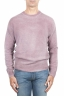 SBU 01481 Maglia girocollo in lana effetto sbiadito rosa 01