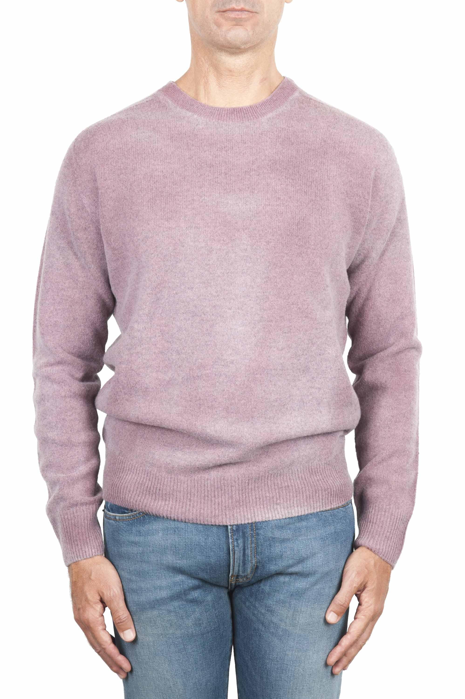 SBU 01481 Pull en laine à col rond rose effet délavé 01