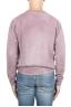 SBU 01481 ピンクのクルーネックウールセーターが退色効果 04
