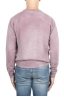 SBU 01481 Pink crew neck wool sweater faded effect 04
