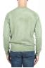 SBU 01482 グリーンのクルーネックウールのセーターが退色効果 04