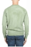 SBU 01482 Green crew neck wool sweater faded effect 04