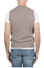 SBU 01483 Beige round neck merino wool and cashmere sweater vest 04