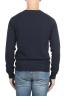 SBU 01492 Blue round neck raw cut neckline and raglan sleeve sweater 04
