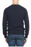 SBU 01493 Navy blue round neck raw cut neckline and raglan sleeve sweater 04