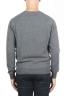 SBU 01495 Anthracite round neck raw cut neckline and raglan sleeve sweater 04