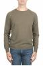 SBU 01497 Cuello redondo verde escote crudo manga raglán suéter 01