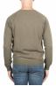 SBU 01497 Cuello redondo verde escote crudo manga raglán suéter 04