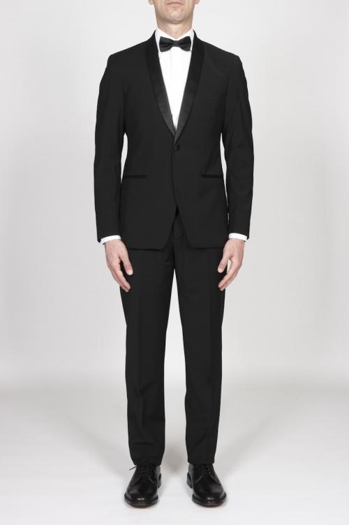 SBU - Strategic Business Unit - Black Wool Tuxedo Jacket And Trouser