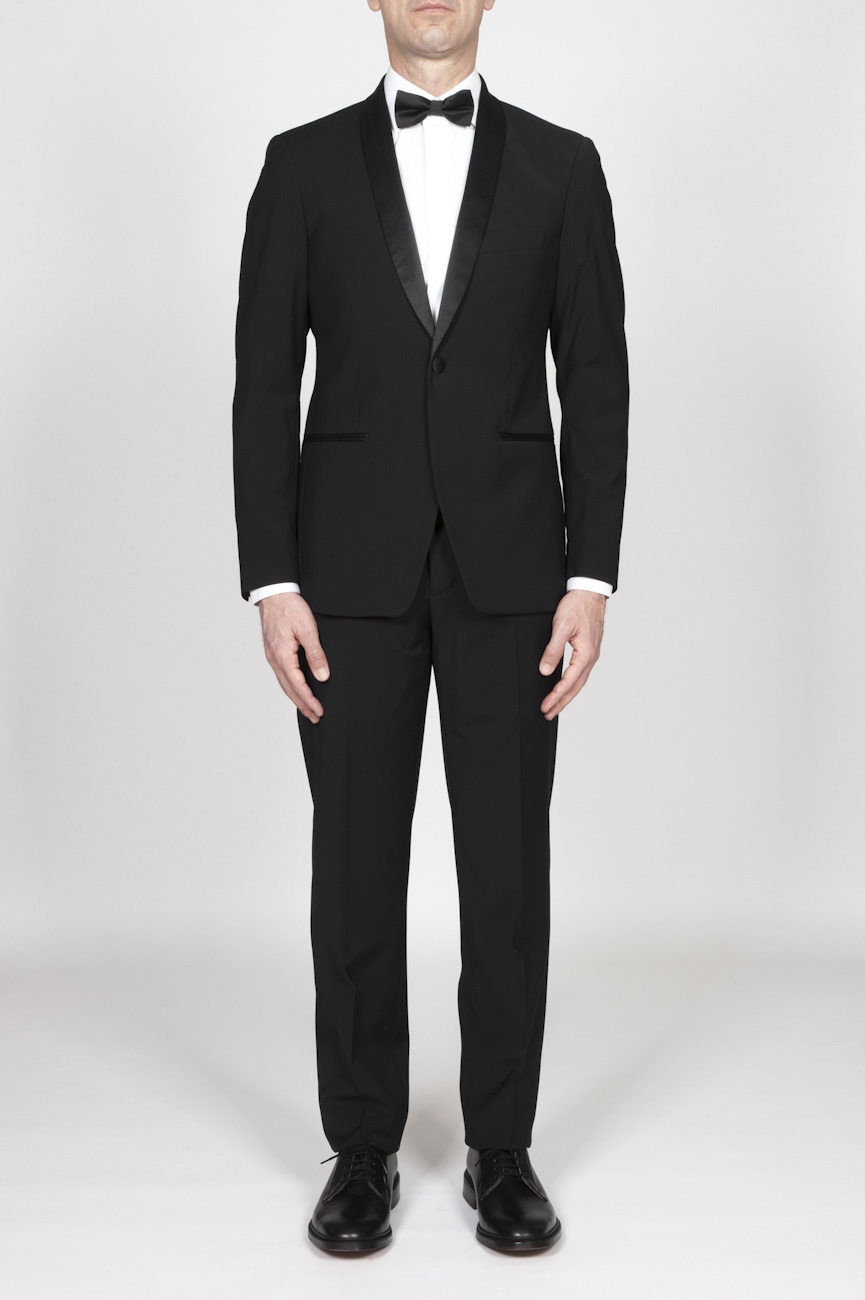 SBU - Strategic Business Unit - Black Wool Tuxedo Jacket And Trouser