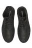 SBU 01508 Bottes du désert hautes classiques en cuir de veau graissé noir 04