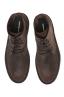SBU 01509 Bottes du désert hautes classiques en cuir de veau graissé marron 04