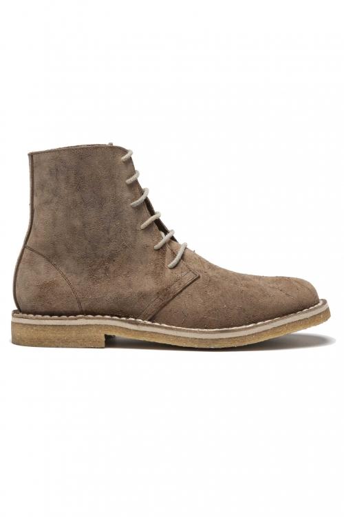 SBU 01510 Classic high top desert boots in pelle oleata beige 01