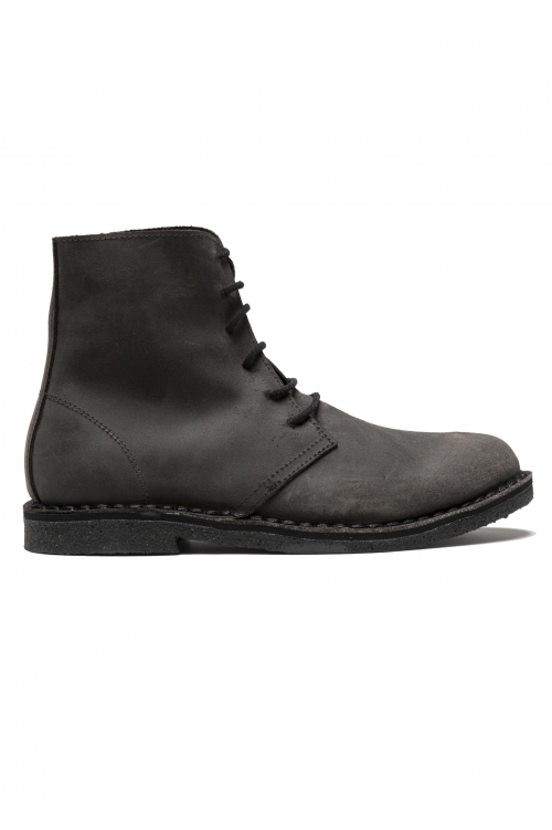 SBU 01512 Classic high top desert boots in pelle spalmata marroni 01