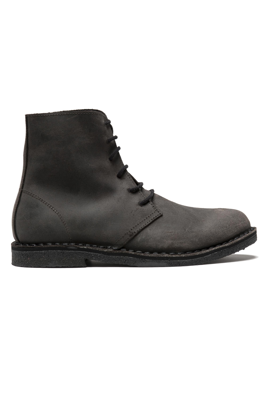 SBU 01512 Classic high top desert boots in pelle spalmata marroni 01