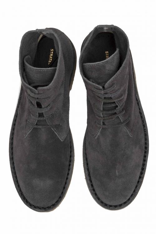 SBU 01514 Classic high top desert boots in pelle scamosciata grigi 01
