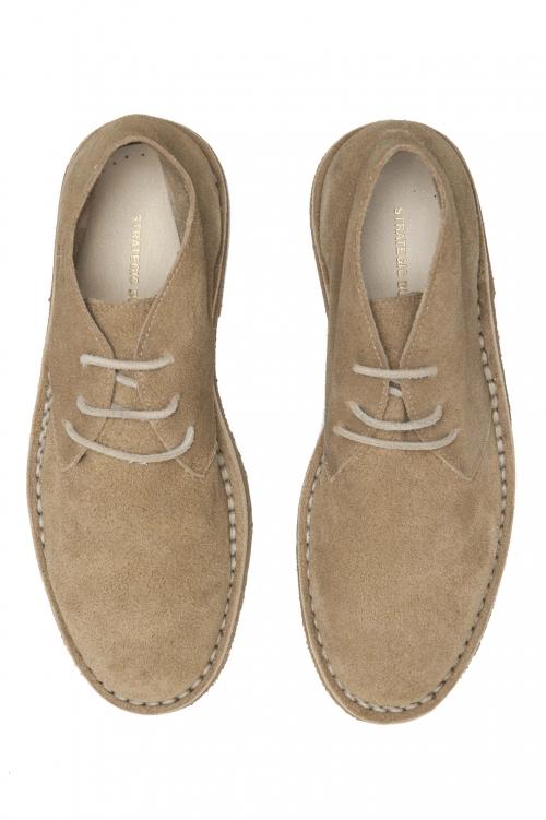 SBU 01515 Classiques mid top bottes du désert en veau velours beige 01