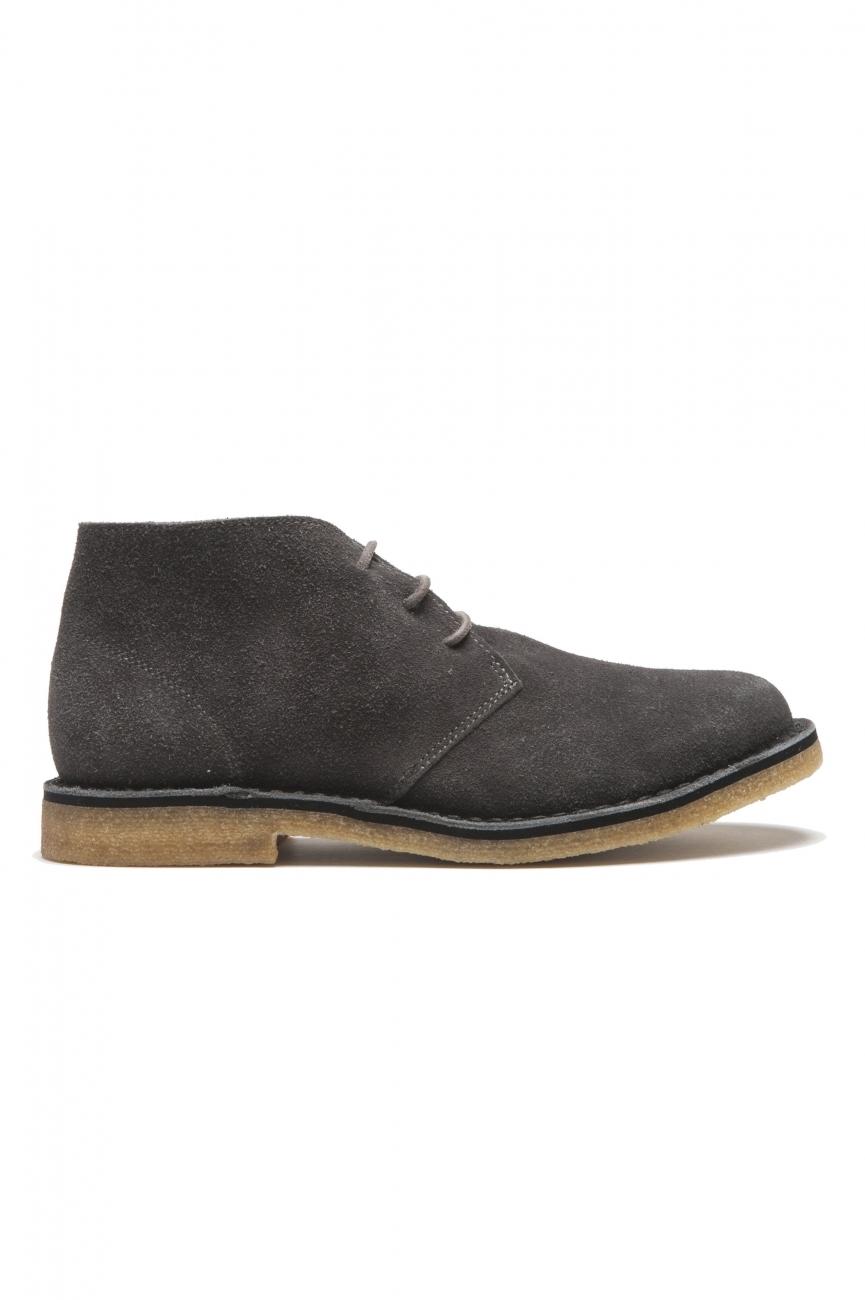 SBU 01517 クラシックミッドトップ砂漠のブーツ、グレーのスエードカーフスキンレザー 01