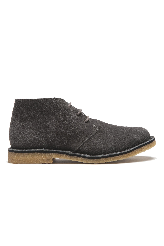 SBU 01517 Clasicas mid top botas de desierto en ante de becerro gris 01