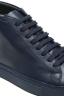 SBU 01522 Sneakers stringate alte di pelle blu 06