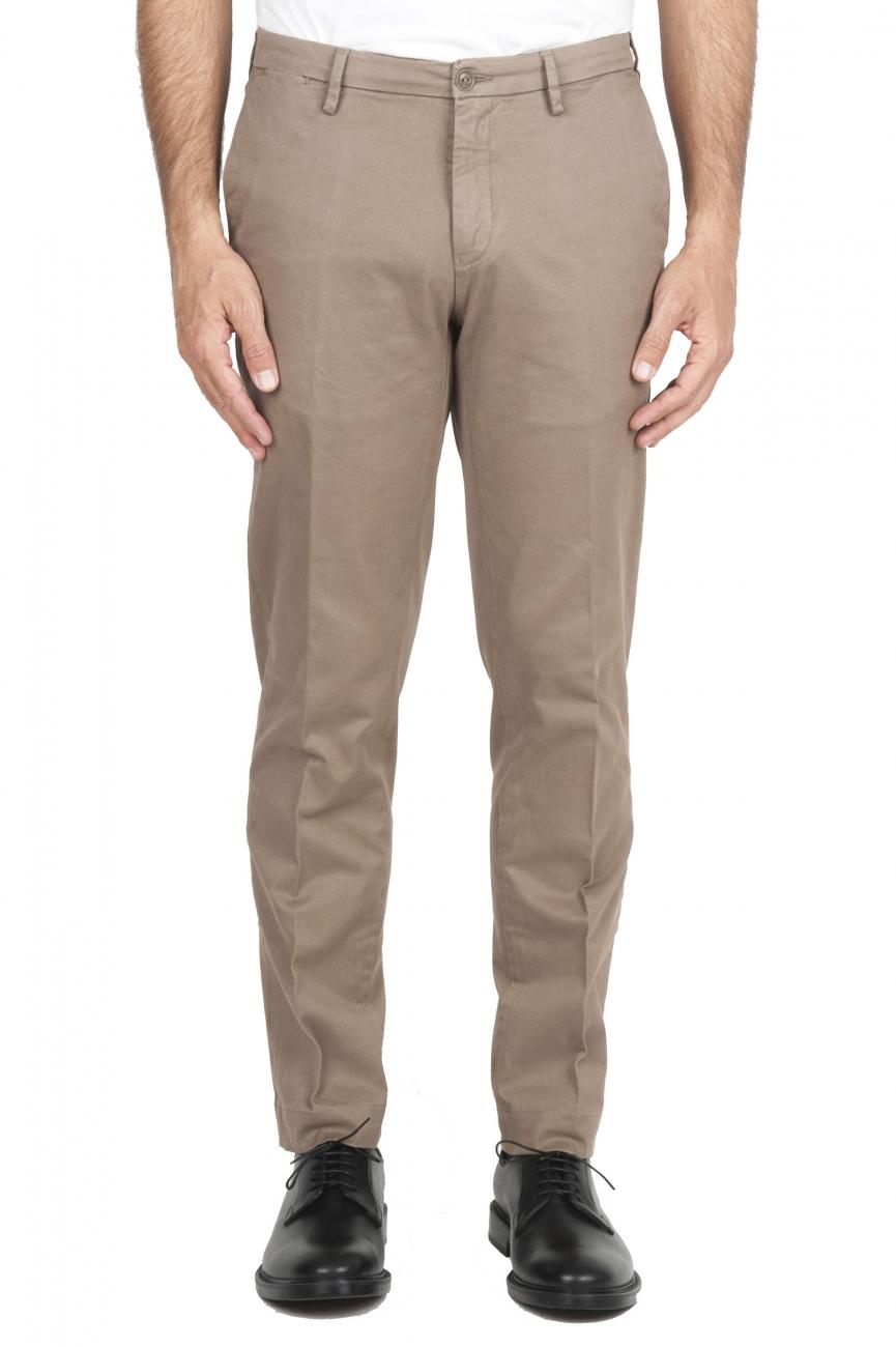 SBU 01534 Classic chino pants in beige stretch cotton 01