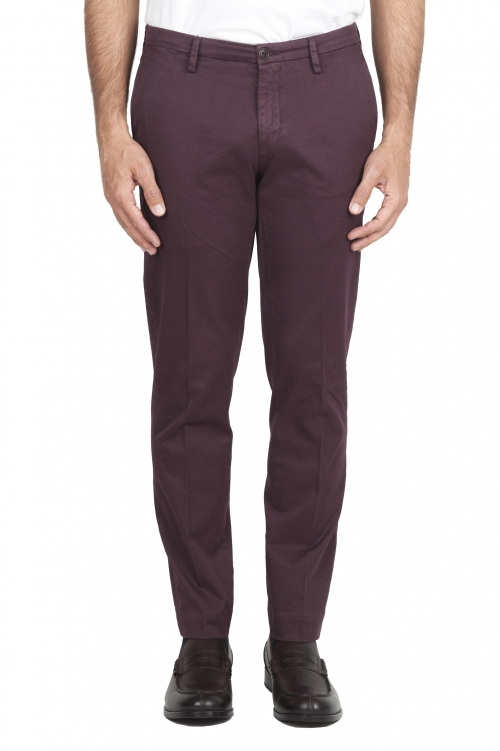 SBU 01535 Pantalon chino classique en coton stretch rouge 01