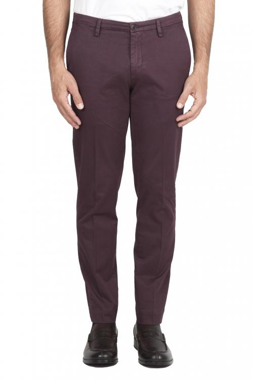 SBU 01535 Pantalones chinos clásicos en algodón elástico rojo 01