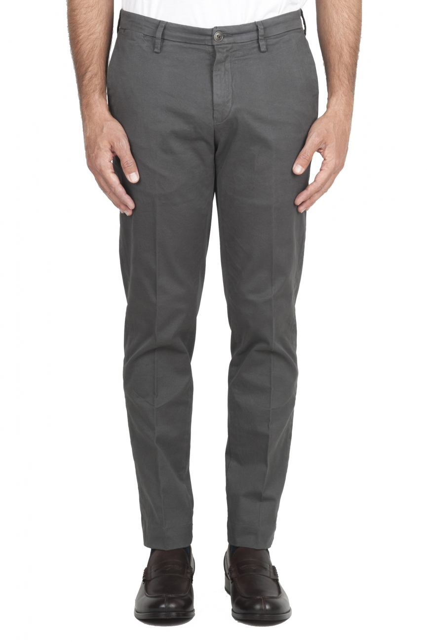 SBU 01536 Classic chino pants in grey stretch cotton 01