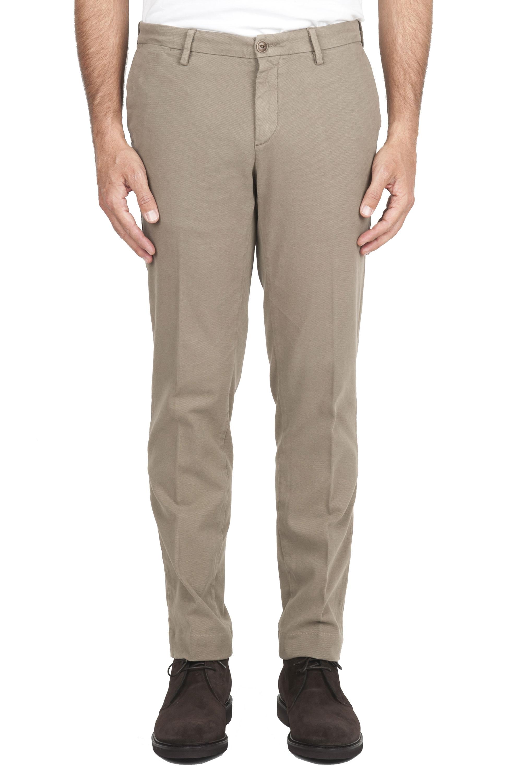 SBU 01541 Pantaloni chino classici in cotone stretch beige 01