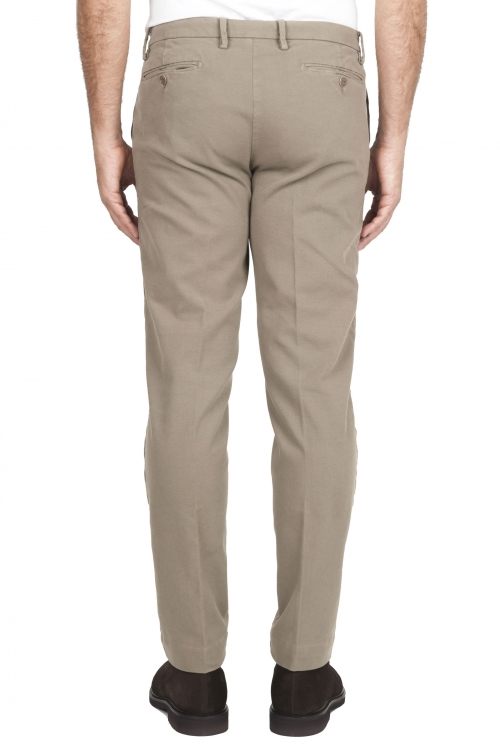 SBU 01541 Pantalon chino classique en coton stretch beige 01
