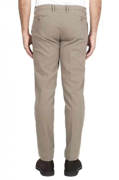 SBU 01541 Pantalones chinos clásicos en algodón elástico beige 01